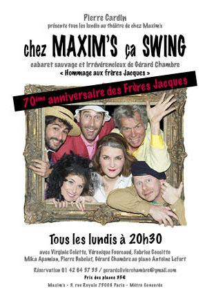 Chez Maxim's ça swingue